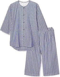 [グンゼ] パジャマ IN SLEEPER 脇縫い目無し綿100%7分袖7分丈パンツ(前あき) 先染サッカー メンズ