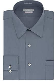 Men's Dress Shirt Fitted Poplin Solid