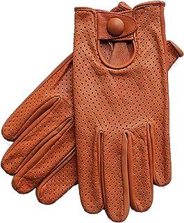 Riparo Motorsports Men's Genuine Leather Driving Gloves Large Cognac Large Cognac