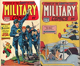 Military Comics. Issues 33 and 34. Stories of the Army and Navy. Features Blackhawk aided by Civil War Veteran. Golden Age Digital Comics