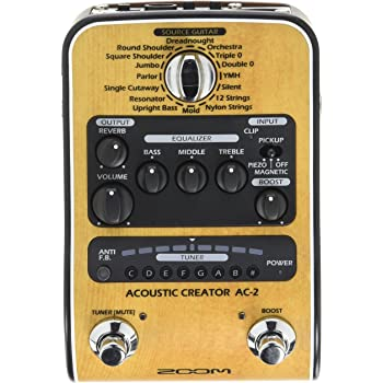 Zoom AC-3/IF Pedal estéreo para guitarra acústica: Amazon.es ...