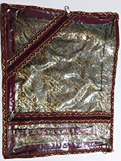 5 Pack/SARI-SAREE/LEHENGA COVER-BAGS-PACKAGING-STORAGE ONE SIDE CLOTH CLEAR