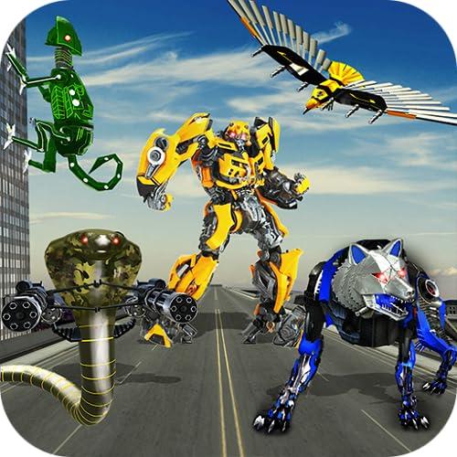 Multi Robot Survival Battle, Multi Robot Transform Wolf, Snake, Falcon & Lizard, robots at ultimate war as Real Strong steal Champions, Transforming Battle, Super Real Mech Robot Squad, Drone Transform, Transformation Robot War Tanks Vs Robot Fight