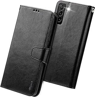 Migeec Funda con Tapa para Samsung Galaxy S21+ Plus 5G con Tarjetero y Bolsillo para Tarjetas de crédito, Color Negro