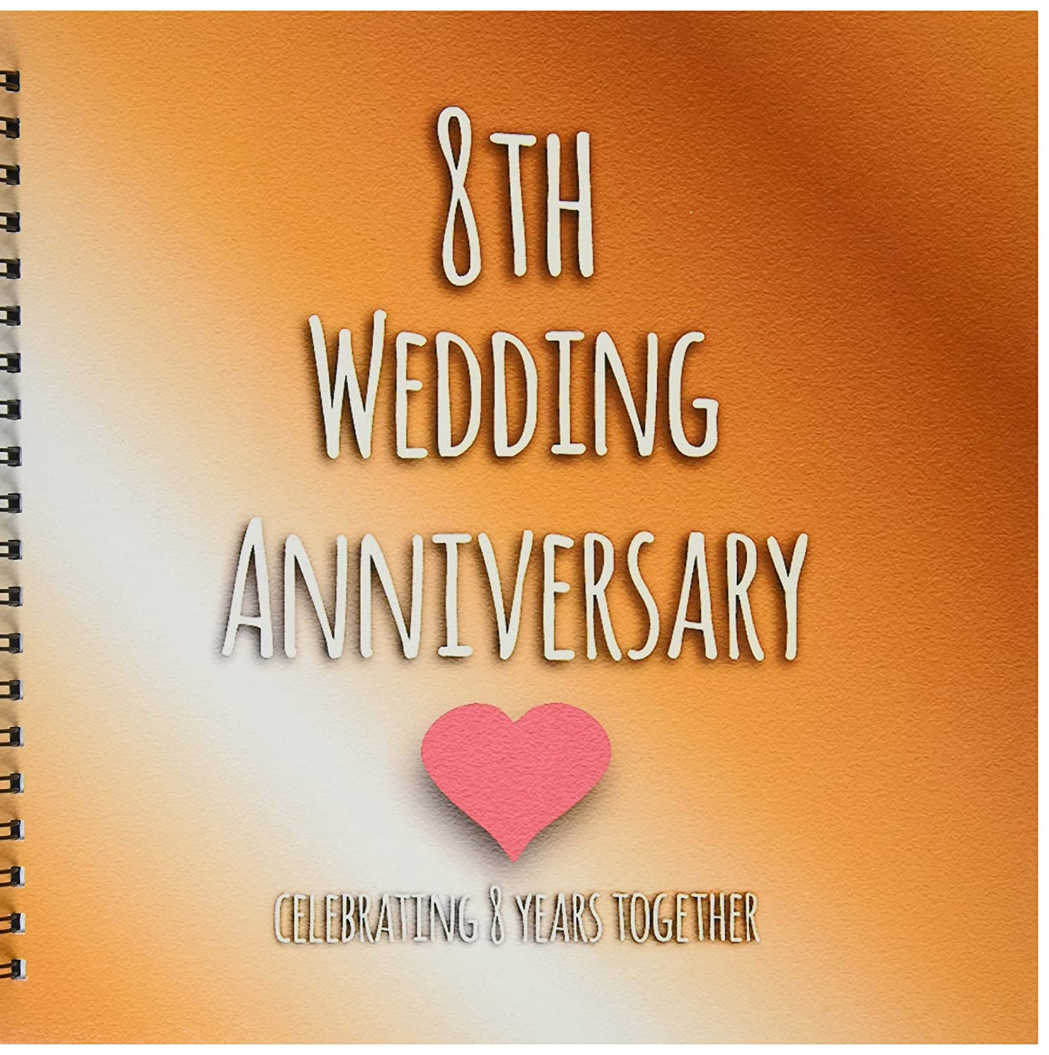 3dRose LLC db_154439_2 Memory Book, 12 by 12-Inch, 8th Wedding Bronze Celebrating 8 Years Together Eighth Anniversaries Eight Years