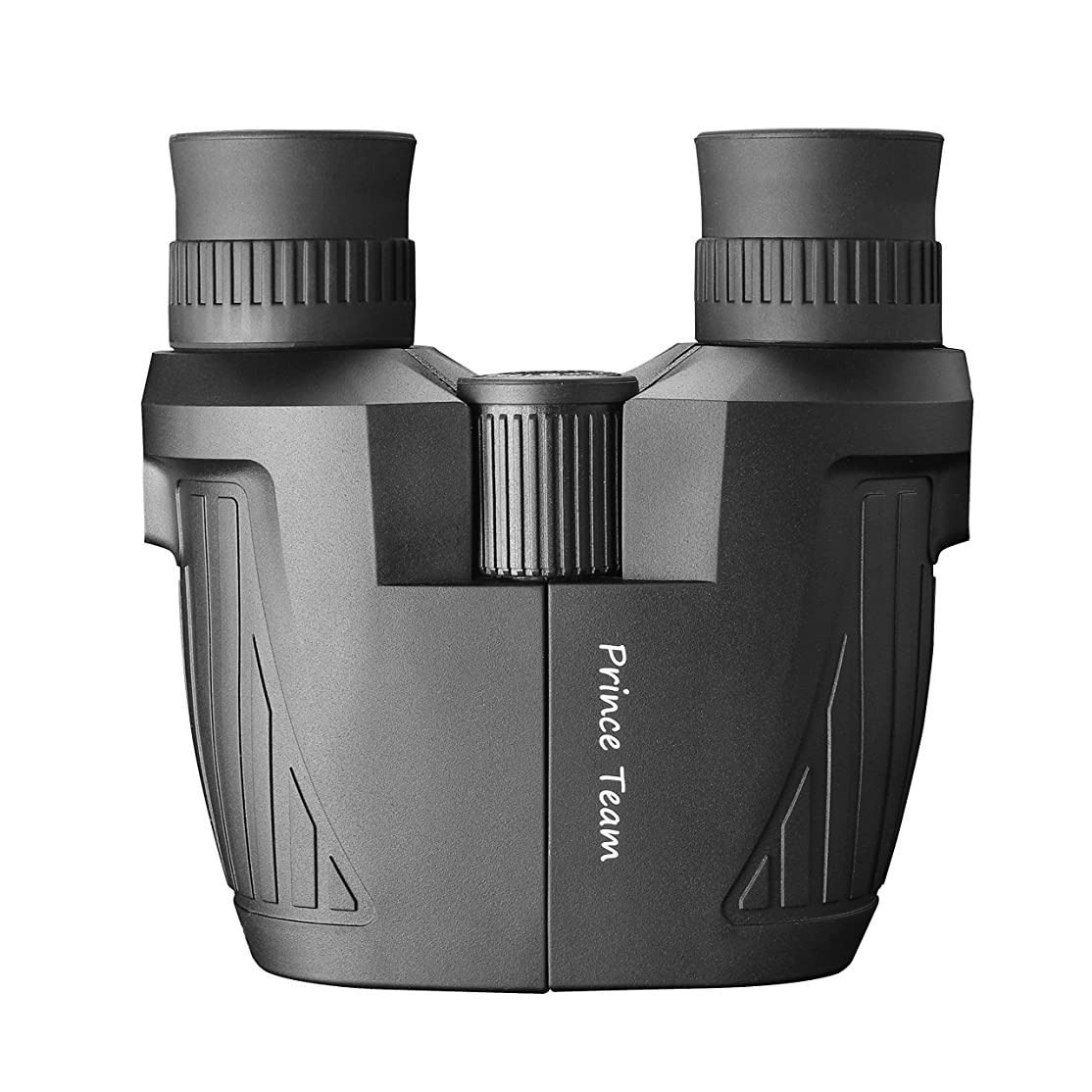 Prince Team 10x25 Folding High Powered Binoculars (BAK4,Green Lens) Lightweight Night Vision Clear Bird Watching Great for Outdoor Sports Games and Concerts kwziqu7387