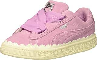 PUMA Kids' Suede Heart Rubberized Sneaker