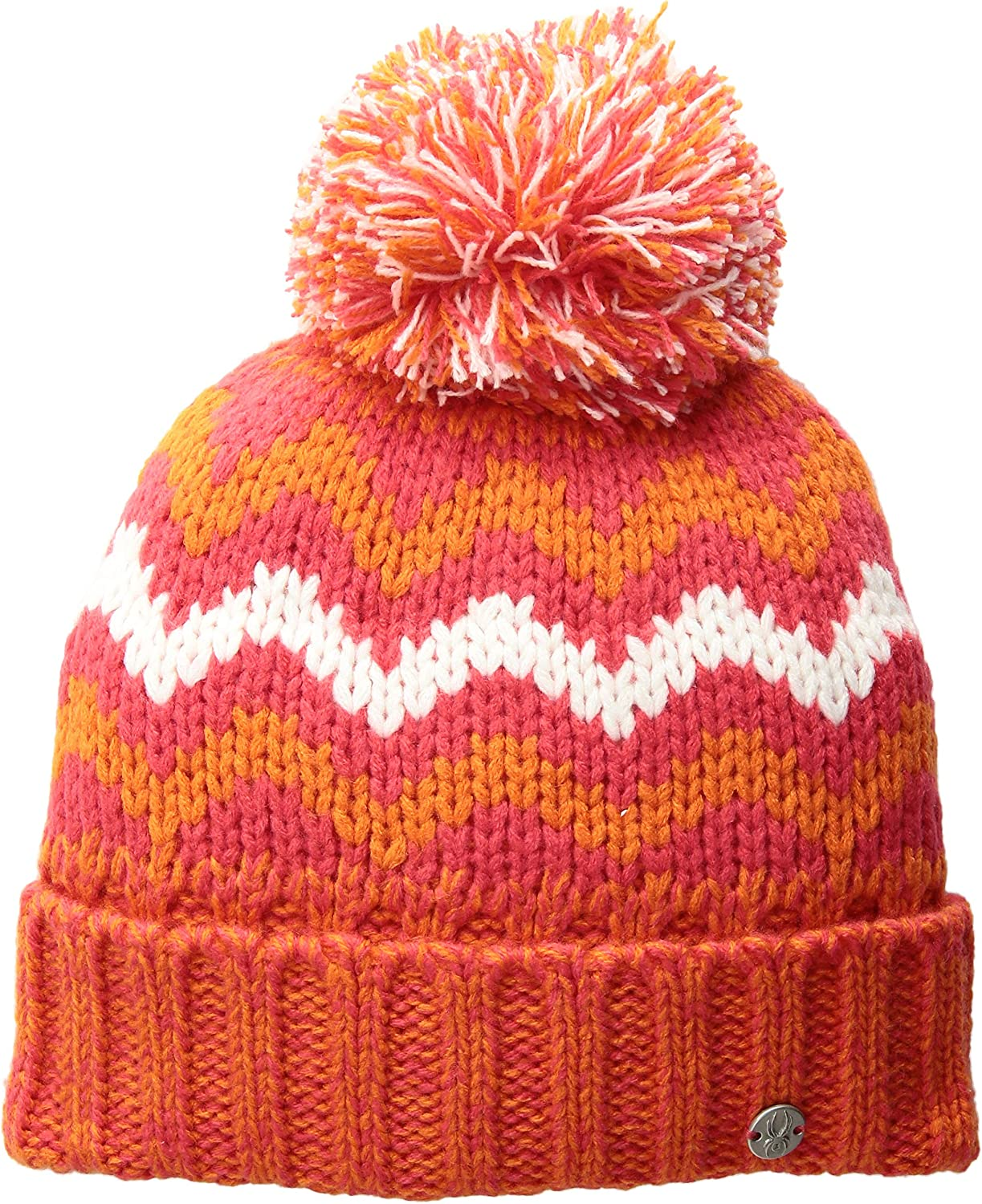 Spyder Girls' Prism Hat, Hibiscus/Golden Poppy/White, One Size : Clothing, Shoes & Jewelry