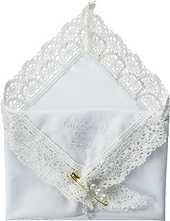 Darice VL3066 Mother of The Bride Embossed Handkerchief Hankies with Pearl Pin