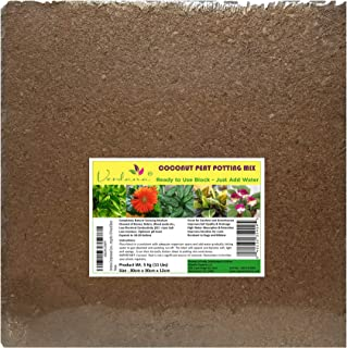 Verdana Coconut Fiber Potting Mix - 10 Lb Compressed Block Brick - Coco Coir, Coco Peat, Coir Pith - Alternative to Peat Moss – Soilless Growing Medium - Low EC, Optimum pH, High Expansion