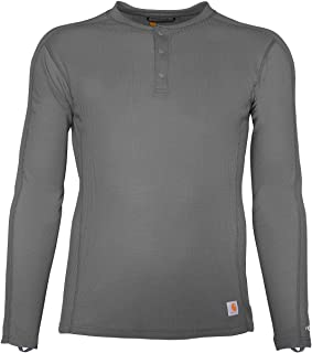 Carhartt Men's Force Midweight Classic Henley Thermal Base Layer Long Sleeve Shirt