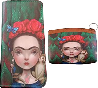 Frida Inspired Women's Purse, Wallet, and/or Matching Coin Purse