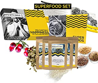 BIO Superfood Tasting Set 5x80g Superfoods Gift Box | Superfood for Beginners Gift Idea 100% Organic Gift Set for Women Me...