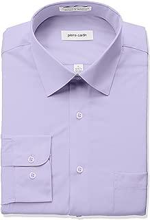 Pierre Cardin Men's Classic Fit Solid Broadcloth Semi Spread Collar Shirt