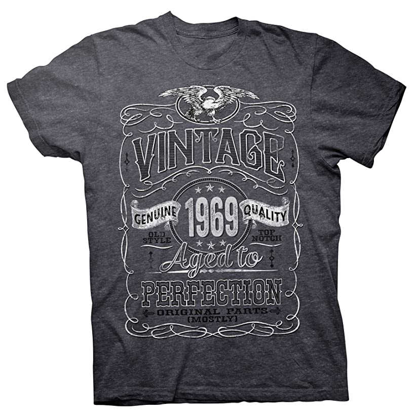 50th Birthday Gift Shirt - Vintage Aged to Perfection 1969 - Distressed