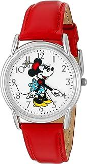 Disney Women's 'Minnie Mouse' Quartz Metal Watch, Color:Red (Model: W002768)