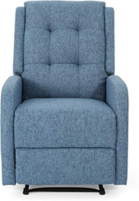 Christopher Knight Home Smith Recliner, Navy Blue Tweed + Black