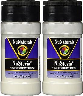 NuNaturals Nustevia Pure White Stevia Extract 1 Oz (Pack of 2)