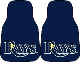 FANMATS MLB Tampa Bay Rays Nylon Face Carpet Car Mat
