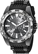 Invicta Men's Star Wars Stainless Steel Automatic-self-Wind Watch with Silicone Strap, Black, 26 (Model: 26523)