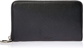 Oroton Women's Alpine Contrast Multi-Pocket Zip Around Wallet, Black/Choc, Large