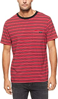 Wrangler Men's Every Street TEE RED Stripe, Multi Stripe