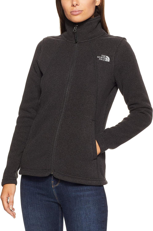 The North Face Women's Crescent Full Zip, TNF Black HTHR