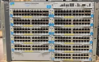 HP PROCURVE 5412ZL SWITCH J8698A 12-SLOT CHASSIS W/ 4x J8712A, 12x J8702A