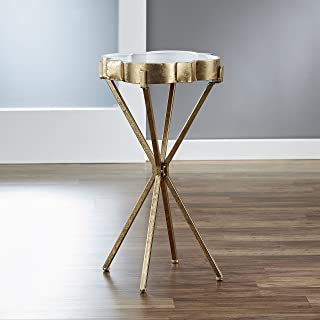 FirsTime & Co. Quatrefoil Tray Accent Table, Gold
