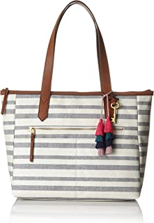 baba98117e Fossil Damentasche ? Fiona Ew Shopper, Cabas femme, Multicolore (Blue  Stripe),