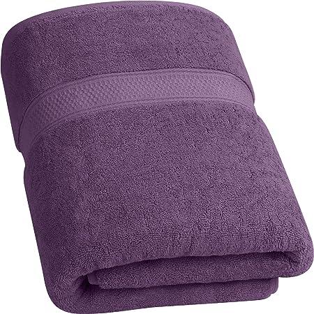 Utopia Towels - 700 gsm Toallas de Baño de Algodón (90 x 180 cm) Hoja de Baño de Lujo Hogar, los Baños, la Piscina y el Gimnasio Algodón de Anillos (Púrpura/Ciruela)