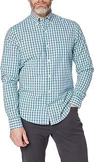 Izod Poplin Check BD Shirt Camisa Casual para Hombre