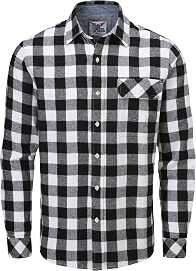 Charles Wilson Camisa Franela de Cuadros Manga Larga para ...