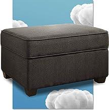 مسند تخزين سيرتا أولين مع غطاء ، تصميم عصري ، غطاء مفصلي ، يمكن استخدامه كمسند قدم أو مقعد إضافي ، سهل التجميع Granite Gray