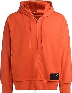 Y-3 Man's Orange Hooded Sweatshirt with Logo