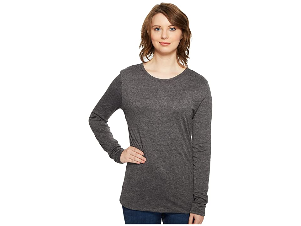 Image of 4Ward Clothing Four-Way Reversible Scoop Long Sleeve Jersey Top (Charcoal/Navy) Girl's Clothing