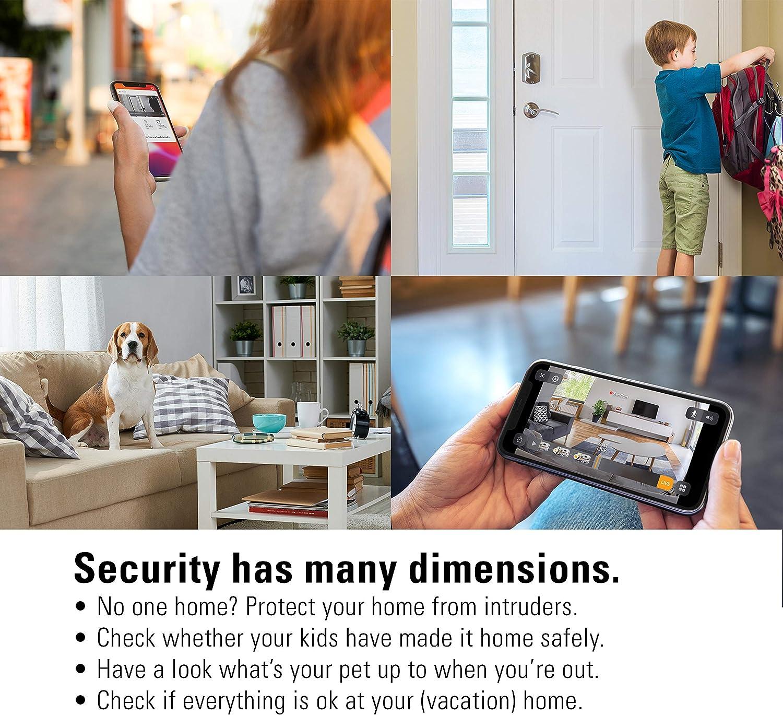 Cam/éra int/érieure s/écuris/ée Lot de 2 Eve Cam d/étecteur de mouvements confidentialit/é absolue Apple HomeKit Secure Video notifications sur iPhone//iPad//Apple Watch