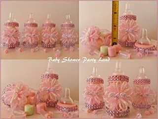 2831c8e6b 12 Pink Fillable Bottles Baby Shower Favors Prizes Games It's a Girl  Decoration