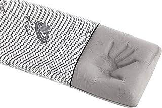Almohada de viscoelástica 80 cm, con Carbono Activo Que Mejora el sueño, con partículas de Carbono Que Evita los Malos olores y el Exceso de sudoración | Se Adapta Perfectamente a Nuestro Cuerpo