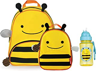 Skip Hop Zoo Backpack, Lunchie, and Bottle Set, Bee