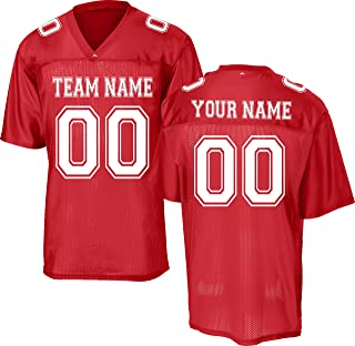 Custom Replica/Practice Football Jersey (Unisex, Youth/Adult) - Add Your Team, Name, and Number