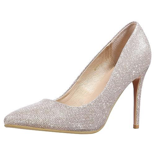 40811a3538b7 Idifu women in classic pointed toe stiletto high heel dress pump jpg  500x500 Sparkle heels