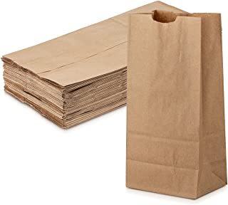 Grocery/Lunch Bag, Kraft Paper, 8 lbs. Capacity, Multipurpose Use, Perfect for Shopping, Storage, Small Trash Cans and More - by MT Products (100 Count) (Brown)
