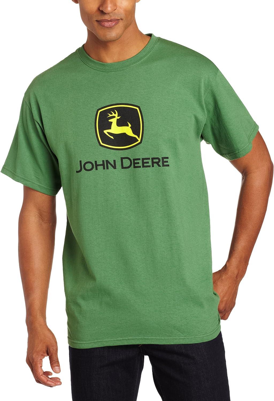 John Deere NCAA Mens Trademark Core Cheap SALE Start Excellence Sleeve Logo Short Tee