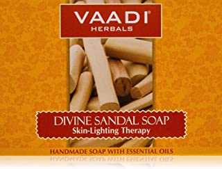 Vaadi Herbals Divine Sandal Soap with Saffron and Turmeric, 75g