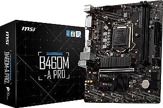 MSI B460M-A PRO - Carte-mère - Micro ATX - مقبس LGA1200 - B460 - USB 3. 2 Gen 1 - Gigabit LAN - Carte Graphic embarquée (و...