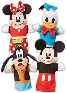 Melissa & Doug Mickey Mouse & Friends Hand Puppets (Puppet Sets; Mickey, Minnie, Donald, and Goofy; Soft Plush Material; Set of 4, Great Gift for Girls and Boys - Best for 2, 3, 4 Year Olds and Up)
