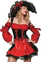 LEG AVENUE(レッグアベニュー) Vixen Pirate Wench コルセットドレス コスチューム ブラック/レッド レディース XLサイズ