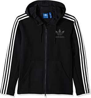 adidas Originals Men's Outerwear Curated Full Zip Jacket, Black, XX-Large