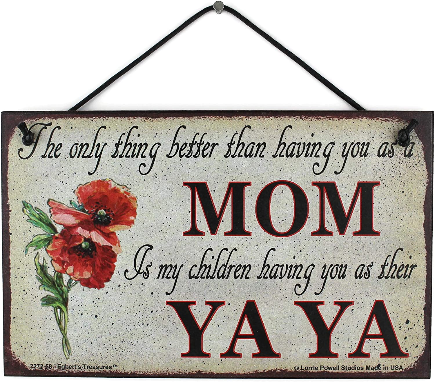 5x8 Vintage discount Style Sign Easy-to-use with Poppy Saying thing